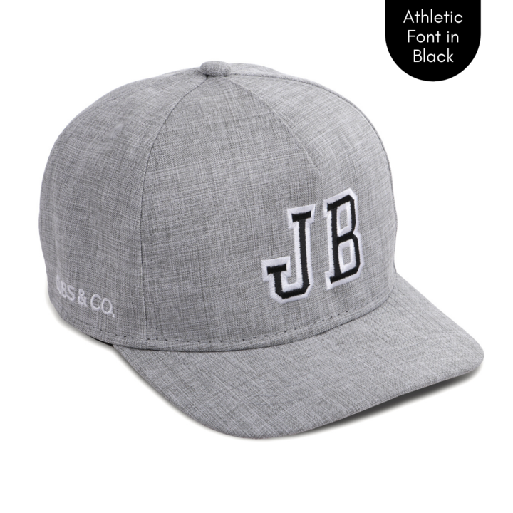 Cubs & Co - PERSONALISED GREY W/ INITIALS | ATHLETIC FONT BLACK