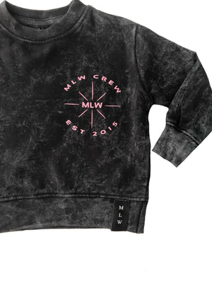 MLW By Design - S.S.S Stonewash Jumper | Pink