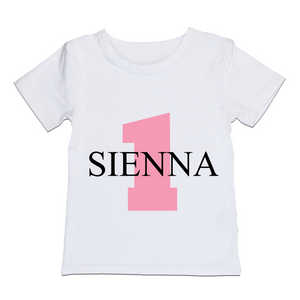 MLW By Design - Personalised Birthday Tee | Pink