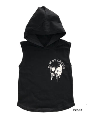 MLW By Design - Melting Skull Sleeveless Hoodie | Black or White