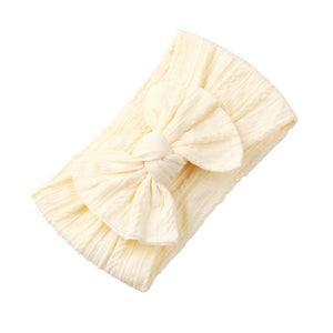 Duchess Bow Headband | Lemon