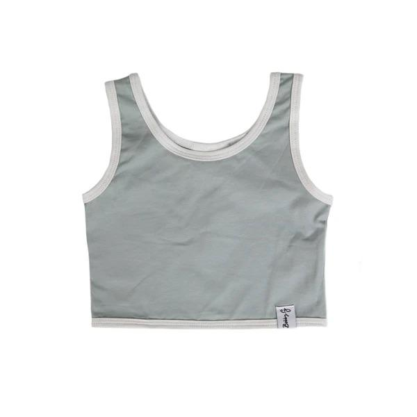 Bobby G Baby Wear - Crop Top Sea Foam Blue