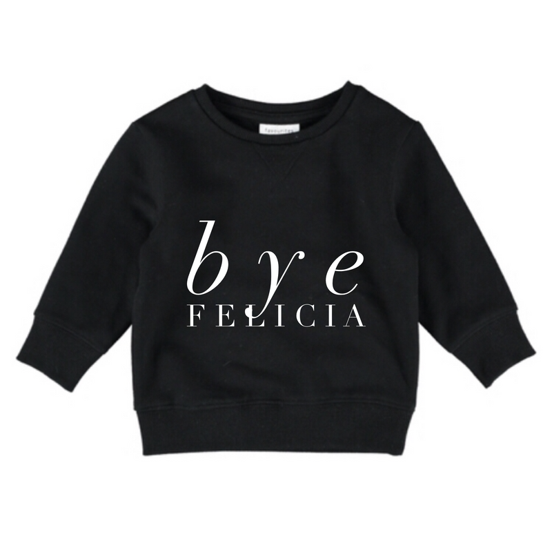 MLW by Design - Bye Felicia Crew | Black
