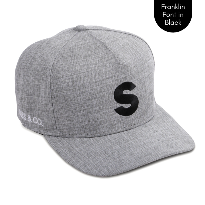 Cubs & Co - PERSONALISED GREY W/ INITIALS | FRANKLIN FONT BLACK