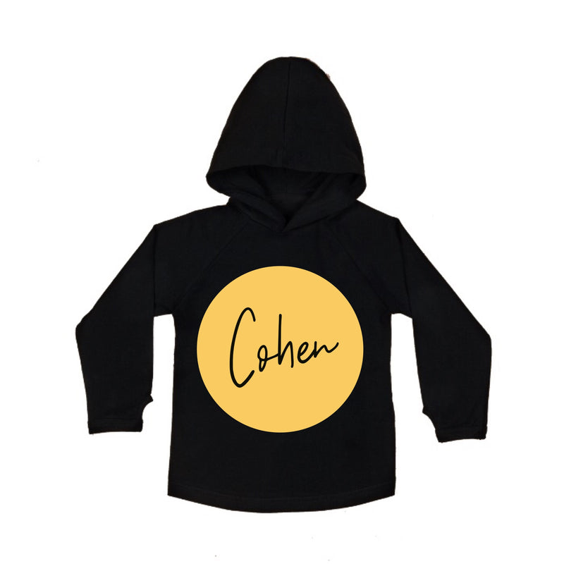 MLW By Design - Personalised Gold Circle Hoodie | Black or White