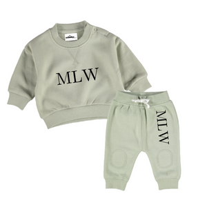 MLW By Design - MLW Logo Tracksuit Set | Sage *LIMITED EDITION*