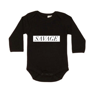 MLW By Design - Savage Long Sleeve Bodysuit | White or Black
