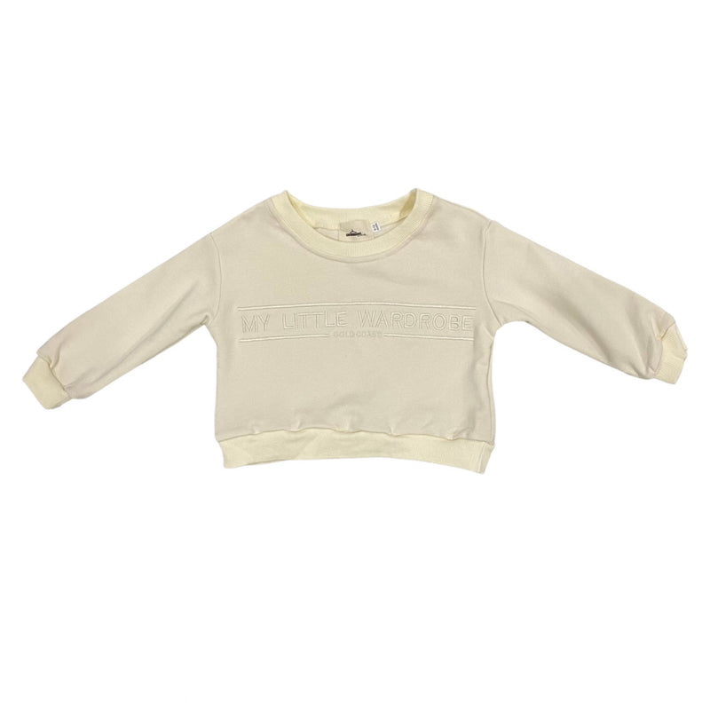 MLW By Design - 90's Brand Sweat | Ivory