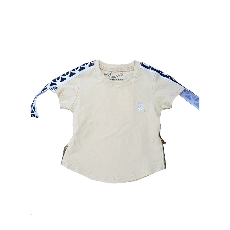 Carrington Kids - Basic Tee With Zipper | Cream