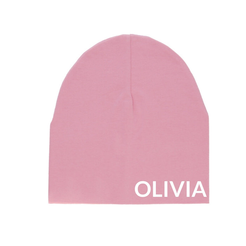 MLW By Design - Personalised Pink Slouch Beanies