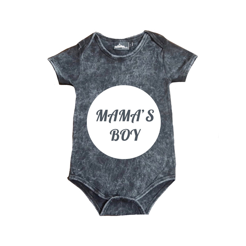 MLW By Design - Mama's Boy Stonewash Bodysuit | White