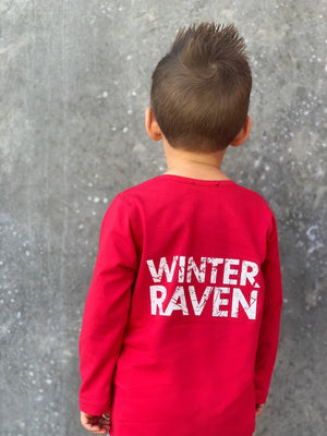 Winter and Raven - Red Long Sleeve Top