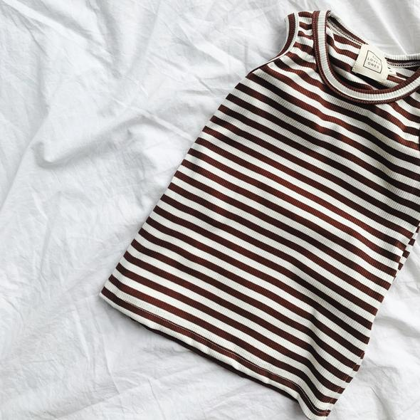 The Loved Ones - Lachy Singlet | Coconut Stripe