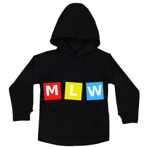 MLW By Design - MLW Retro Cubes Hoodie | Black or White