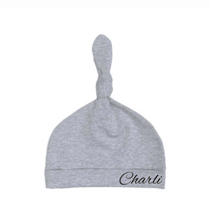 MLW By Design - Personalised Knotted Beanie | Grey