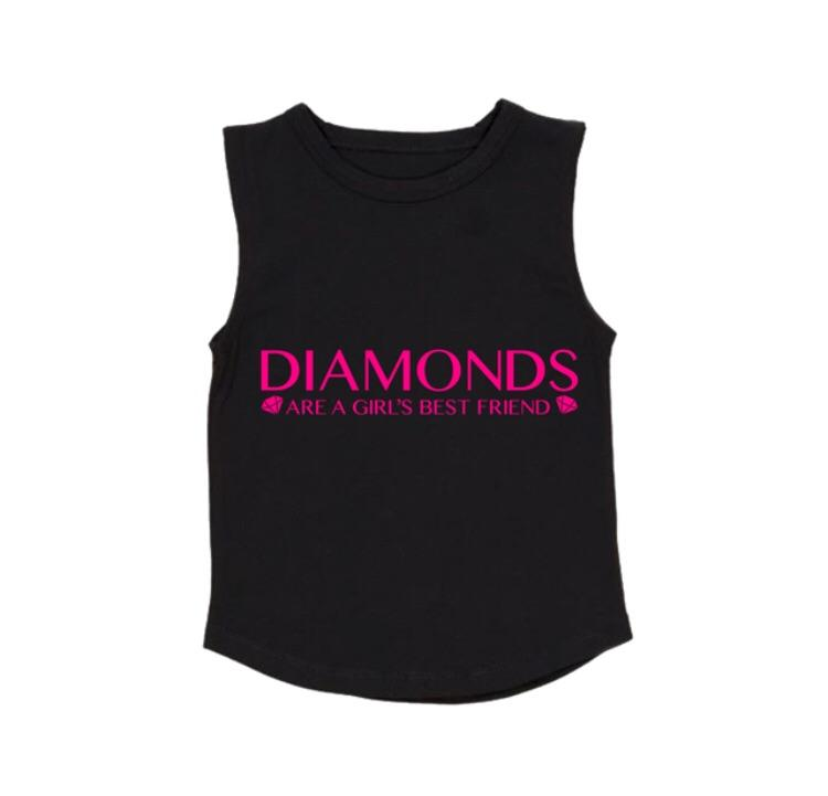 MLW By Design - Diamonds Tank | White or Black