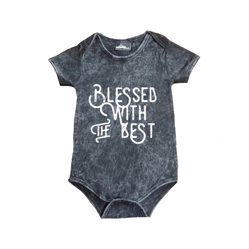 MLW By Design - Blessed WTB Stonewash Bodysuit