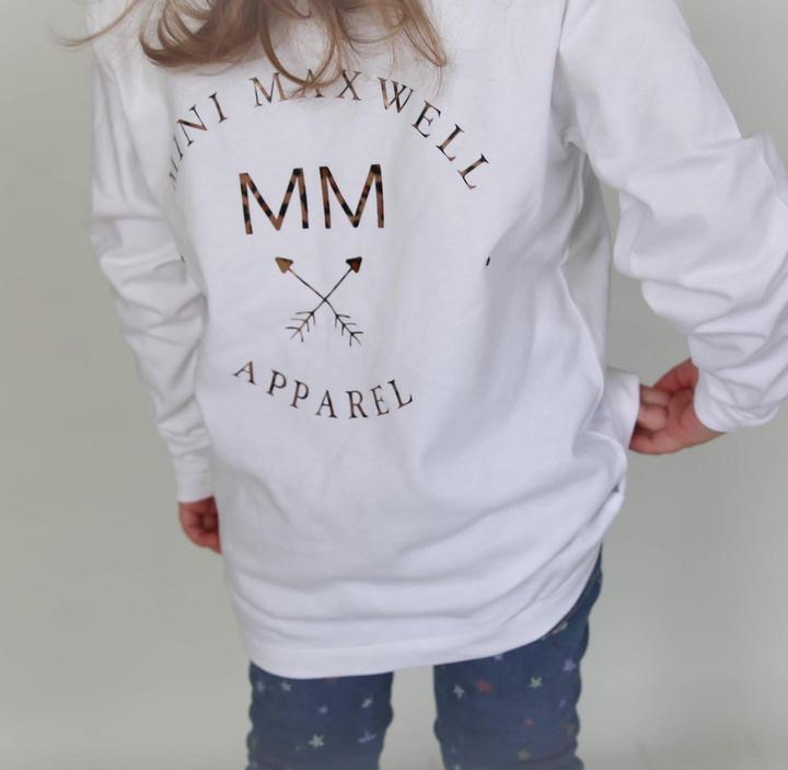 Mini Maxwell - Maxwell Apparel Tee | White with Leopard Print