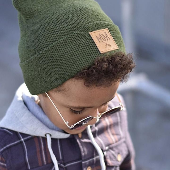 Mini Maxwell - MM Knit Beanie Khaki