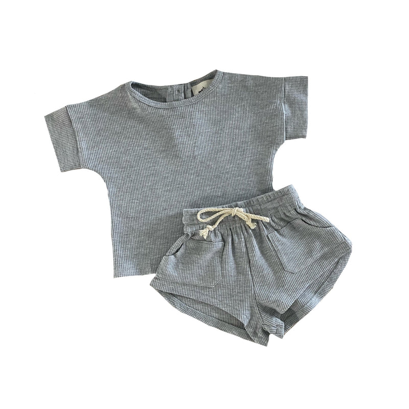 MLW By Design - Waffle Lounge Summer Set | Grey