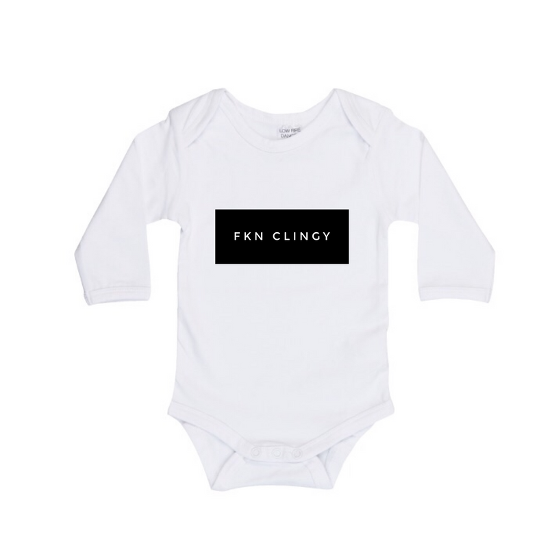 MLW By Design - FKN Clingy Long Sleeve Bodysuit | White or Black