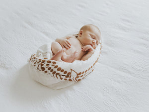Little Sprig - Native Wreath Swaddle 'RUST'