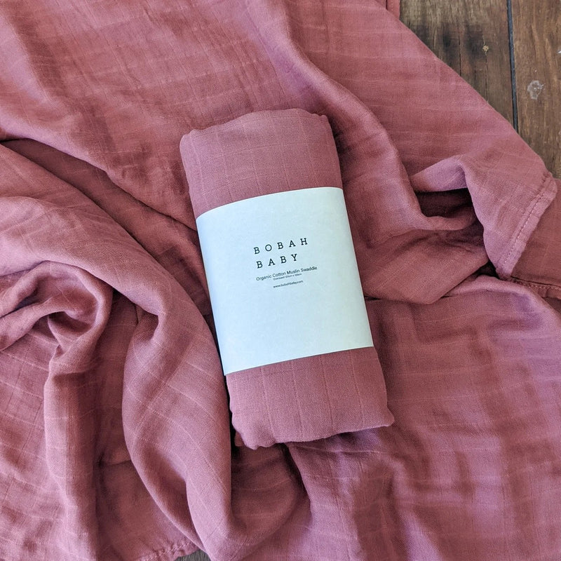 Bobah Baby - Organic Cotton Muslin Swaddle | Merlot