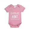 MLW By Design - I Love My Uncle / Aunt Bodysuit | Rose Quartz