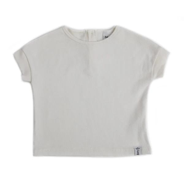 Bobby G Baby Wear - Spring Tee Ribbed White