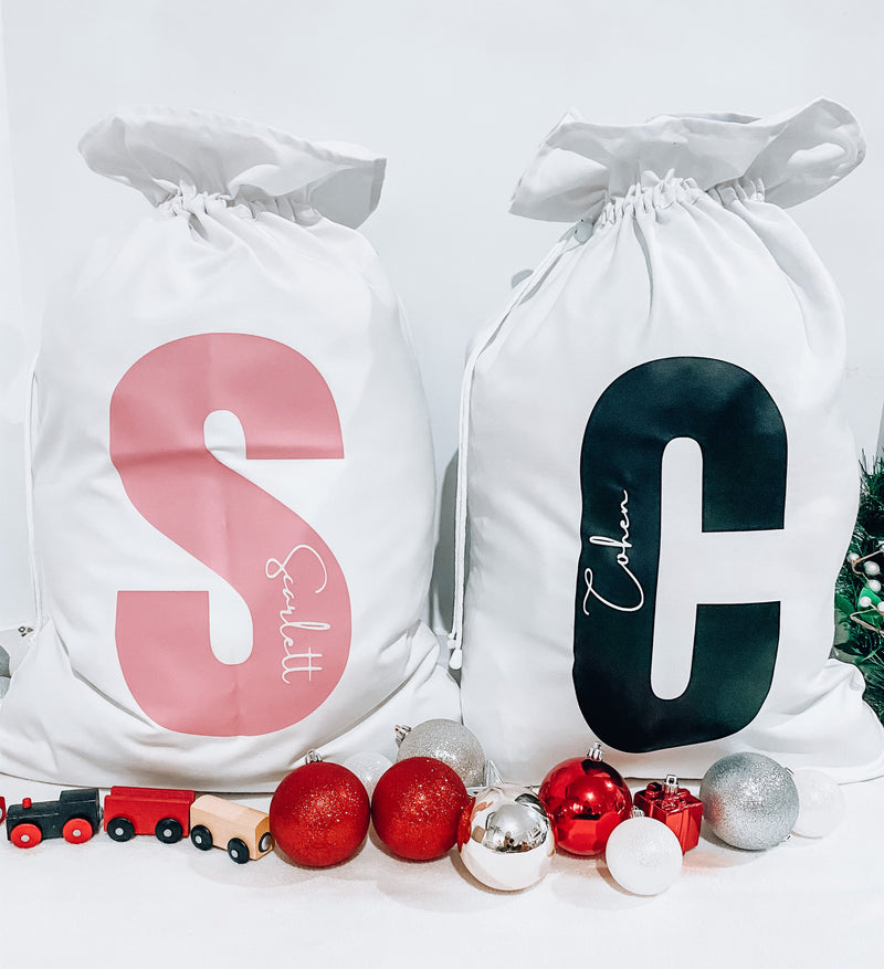 MLW By Design - Personalised Name Christmas Santa Sacks