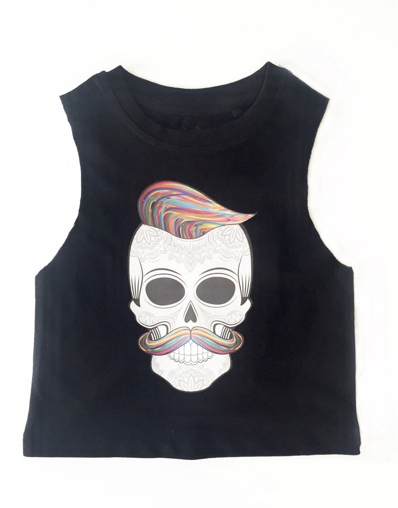 MLW By Design - Hipster Skull Muscle Tank | Black