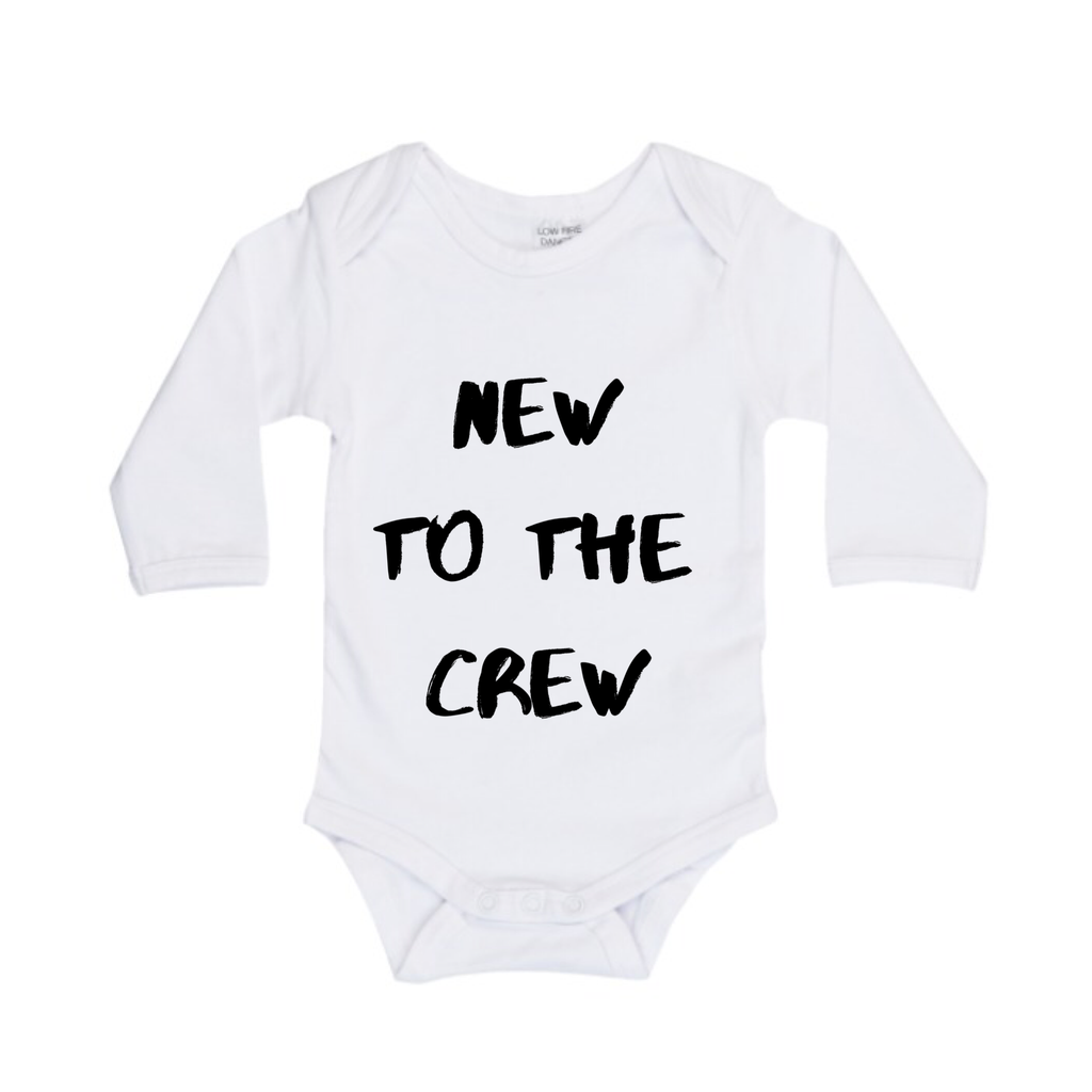 MLW By Design - New To The Crew LS Bodysuit | White or Black