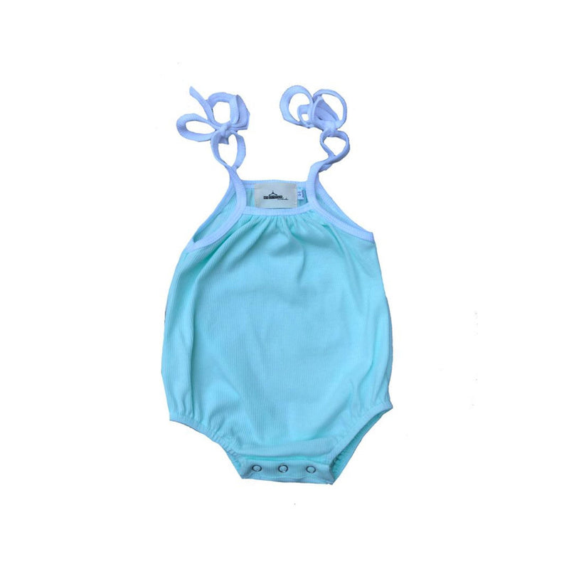 MLW By Design - Candy Ribbed Romper | Aqua