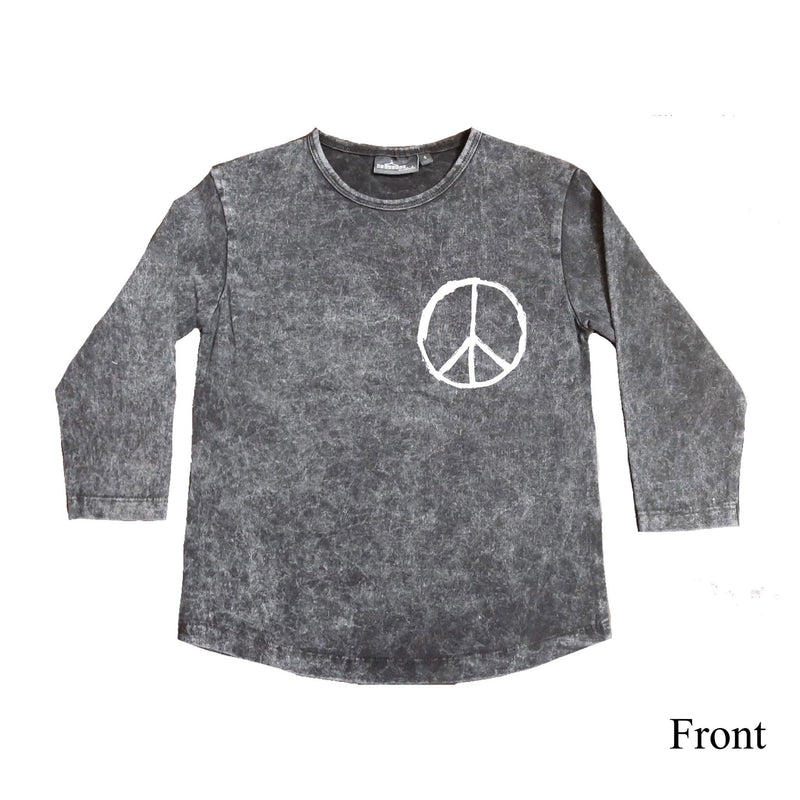 MLW By Design - Where Is The Love Stonewash Top