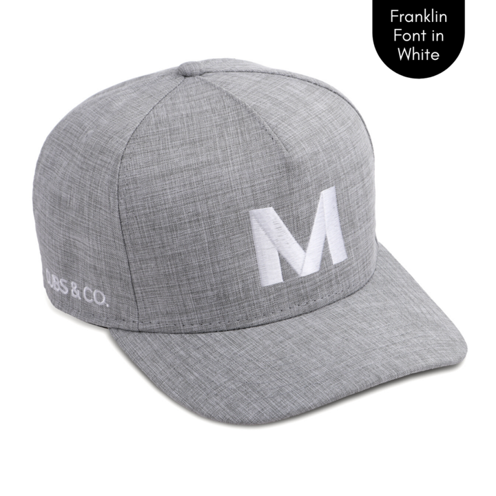 Cubs & Co - PERSONALISED GREY W/ INITIALS | FRANKLIN FONT WHITE