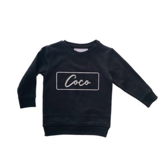 Little Wolfie - Personalised Crew Jumper | Rectangle Print