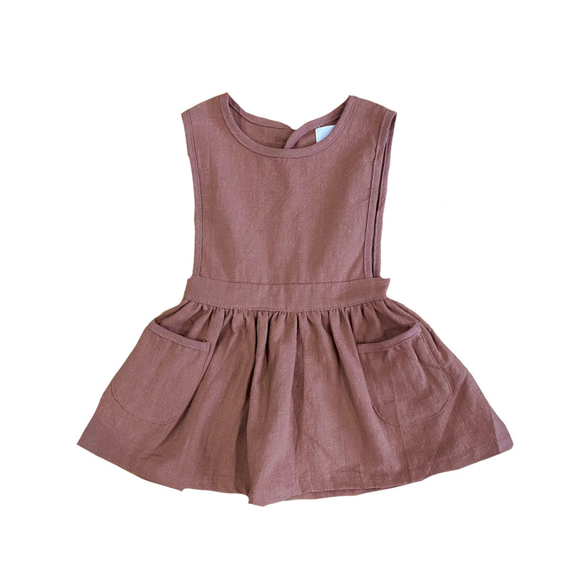 MLW By Design - Indie Linen Dress | Chocolate
