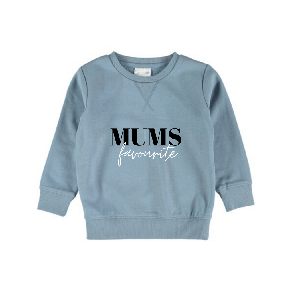 MLW by Design - Mum's Fave Blue Crew