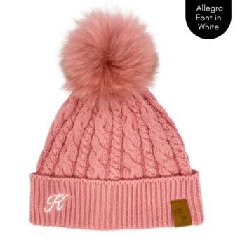 Cubs & Co - PERSONALISED CLASSIC KNIT PINK BEANIE