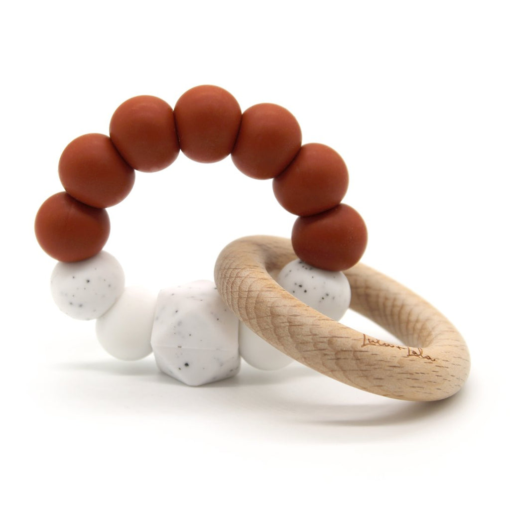 Lulu and Lala - LALA silicone + beechwood teether | Various Color Combos