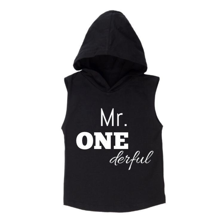 MLW By Design - Mr ONEderful Sleeveless Hoodie | White or Black