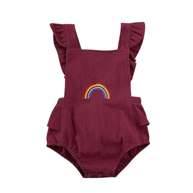 Rainbow Romper | Wine