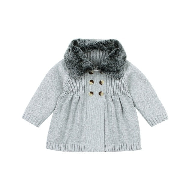 Fur Winter Jacket | Grey