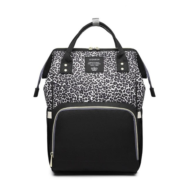 Nappy Bag Leopard Diva | Black