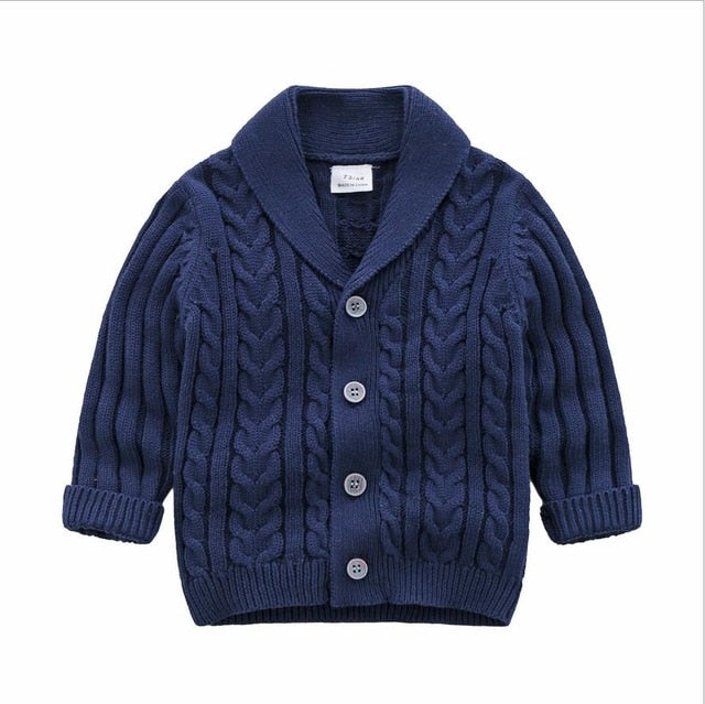 Oxford Knit Cardigan | Navy