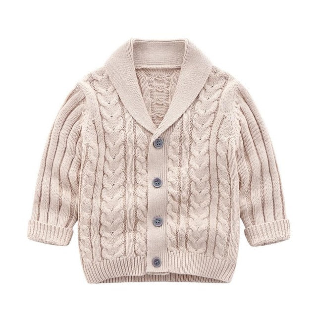 Oxford Knit Cardigan | Latte