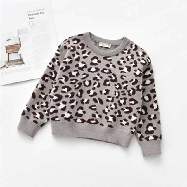 Lady Leopard Jumper | Grey