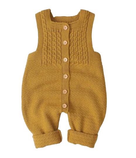 Knit Jumpsuit | Mustard