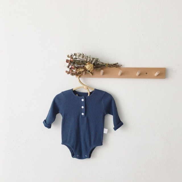Essential Ribbed Romper | Navy