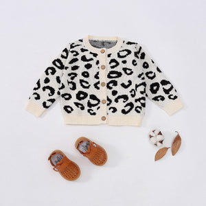 Leopard Romper and Cardi Set